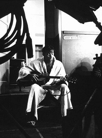Mitchum relaxes on the set of Ryan's Daughter.