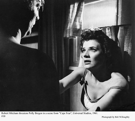 Mitchum getting nasty with Polly Bergin in Cape Fear 1961